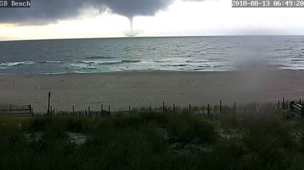 Heavy Rain Spawns Waterspout Off LBI