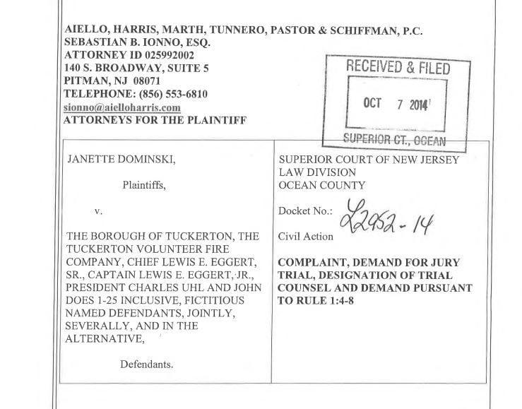 Tuckerton Settles for $65K in Sexual Harassment & Retaliation Lawsuit Involving Volunteer Firefighter