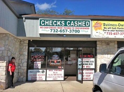 Lakehurst: Shady Guy Passes Bad Checks at Check Cashing Store