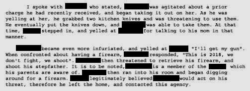 TR (Silverton): Crowder Drive Gun Threat- Followup.