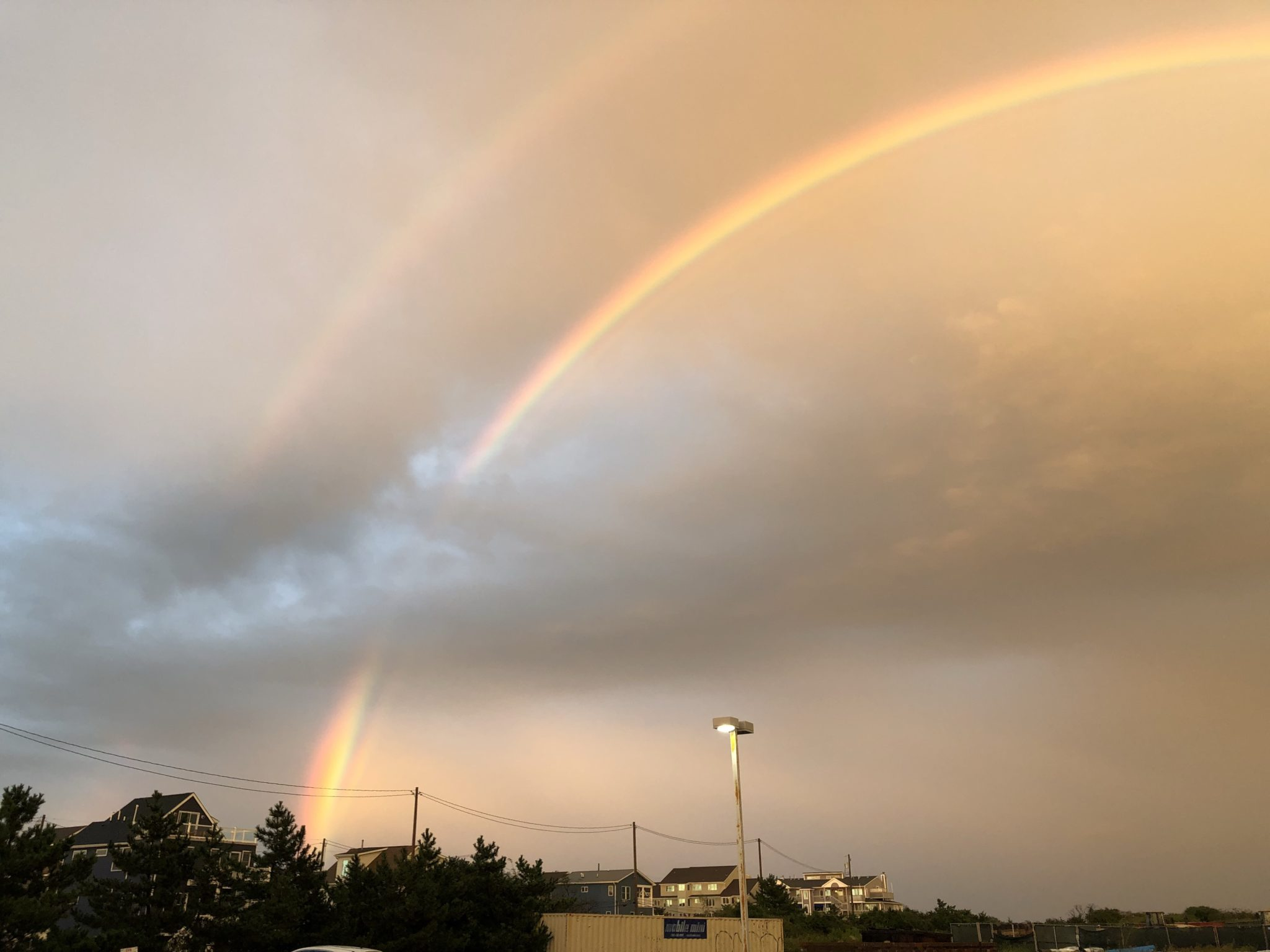 SSH: Beautiful Double-Rainbow Tonight!