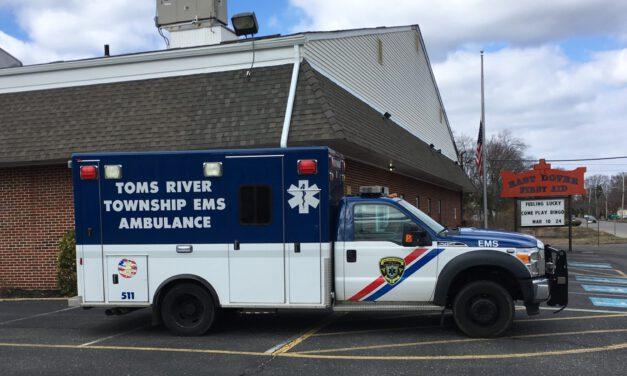 TOMS RIVER: Patient Falls Down 10 Steps- Painful, but Conscious