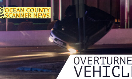 Berkeley Township: Overturned Vehicle