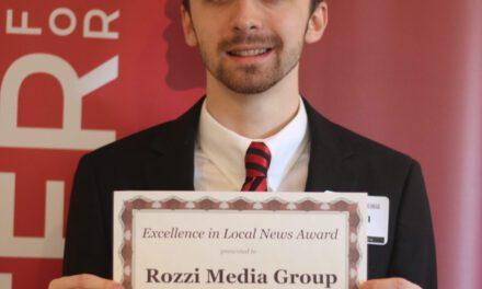 Rozzi Wins Statewide Journalism Award