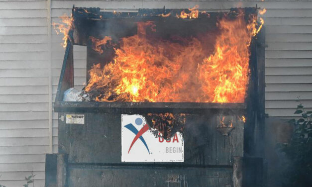 ISLAND HEIGHTS: Working Dumpster Fire on Lake Avenue