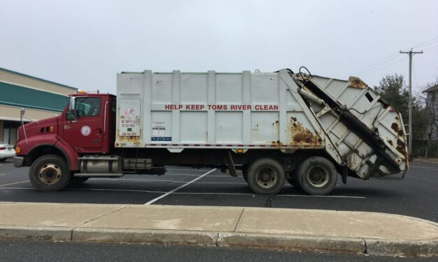 TOMS RIVER: Garbage Truck Fire