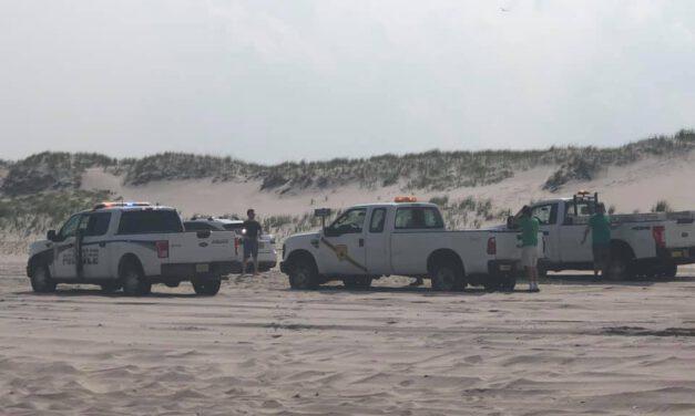 Island Beach State Park: Vehicle Fire