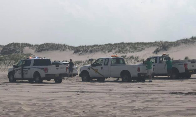 Island Beach State Park: Vehicle Fire
