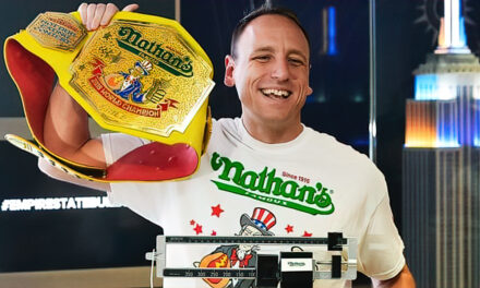 """Joey """"Jaws"""" Chestnut wins his 12th Nathan's Hot Dog eating contest"""