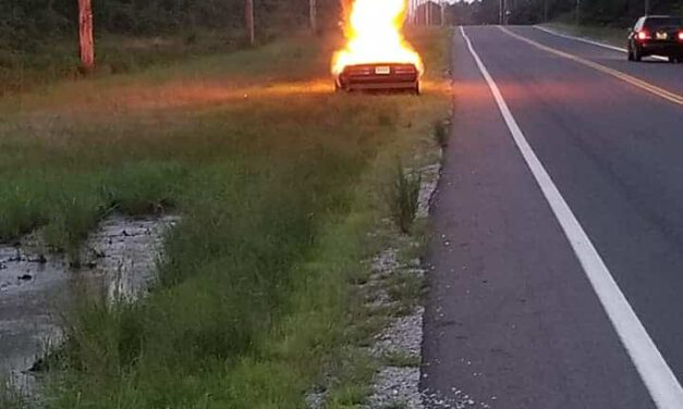 LACEY: Man's Camaro Bursts Into Flames While Heading To Work