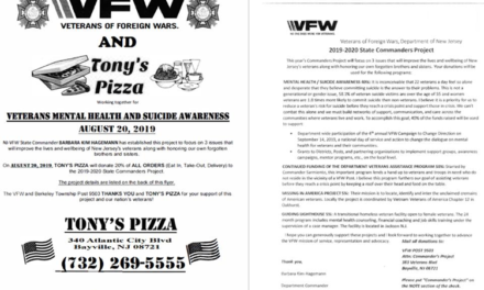 BAYVILLE: Veterans Mental Health & Suicide Awareness Fundraiser @ Tony's Pizza (08/20/2019)
