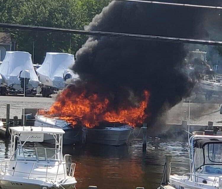 WARETOWN: Boat Fire (x2) Update