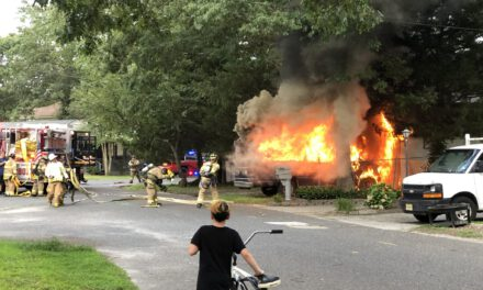 Toms River: Fully Involved Garage Fire