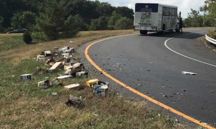 Freehold Police: Cases of Beer falling out of delivery truck