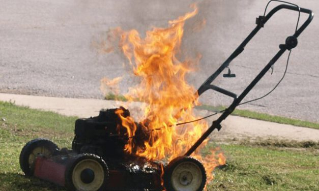 Lacey: Lawnmower on Fire