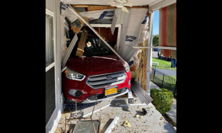 STAFFORD: 86 y/o Woman Drives Into House