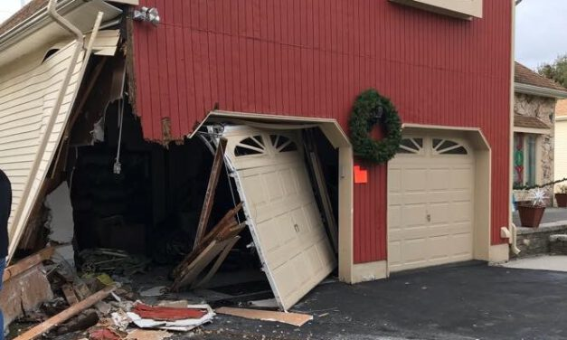 FREEHOLD: Hit & Run Driver Crashes into a Garage
