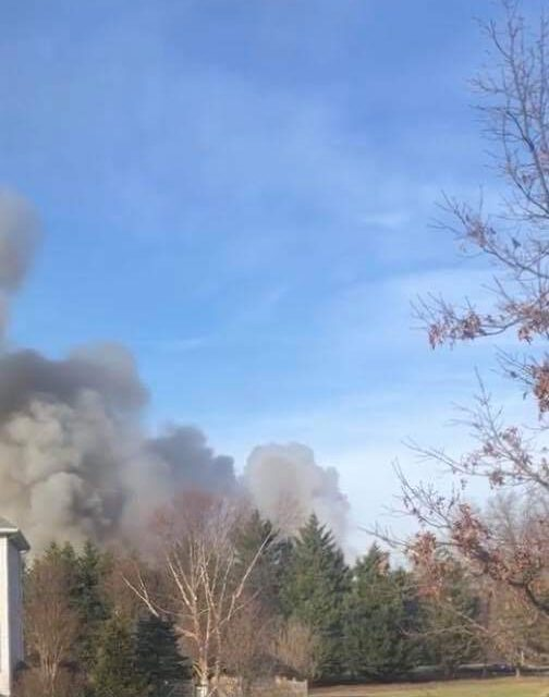 Wall: House Fire being reported on Peter Court.