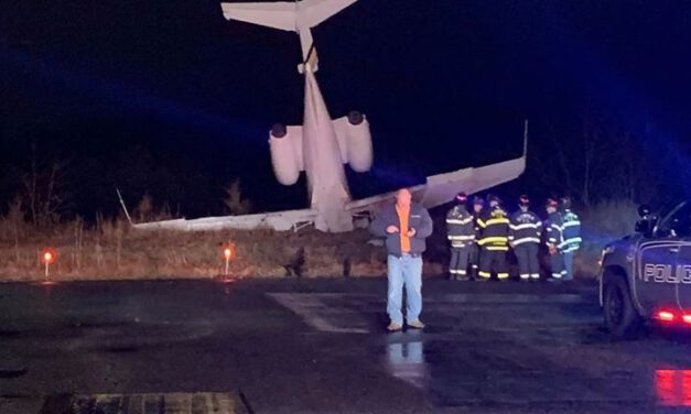 WALL: Plane Goes off the Runway