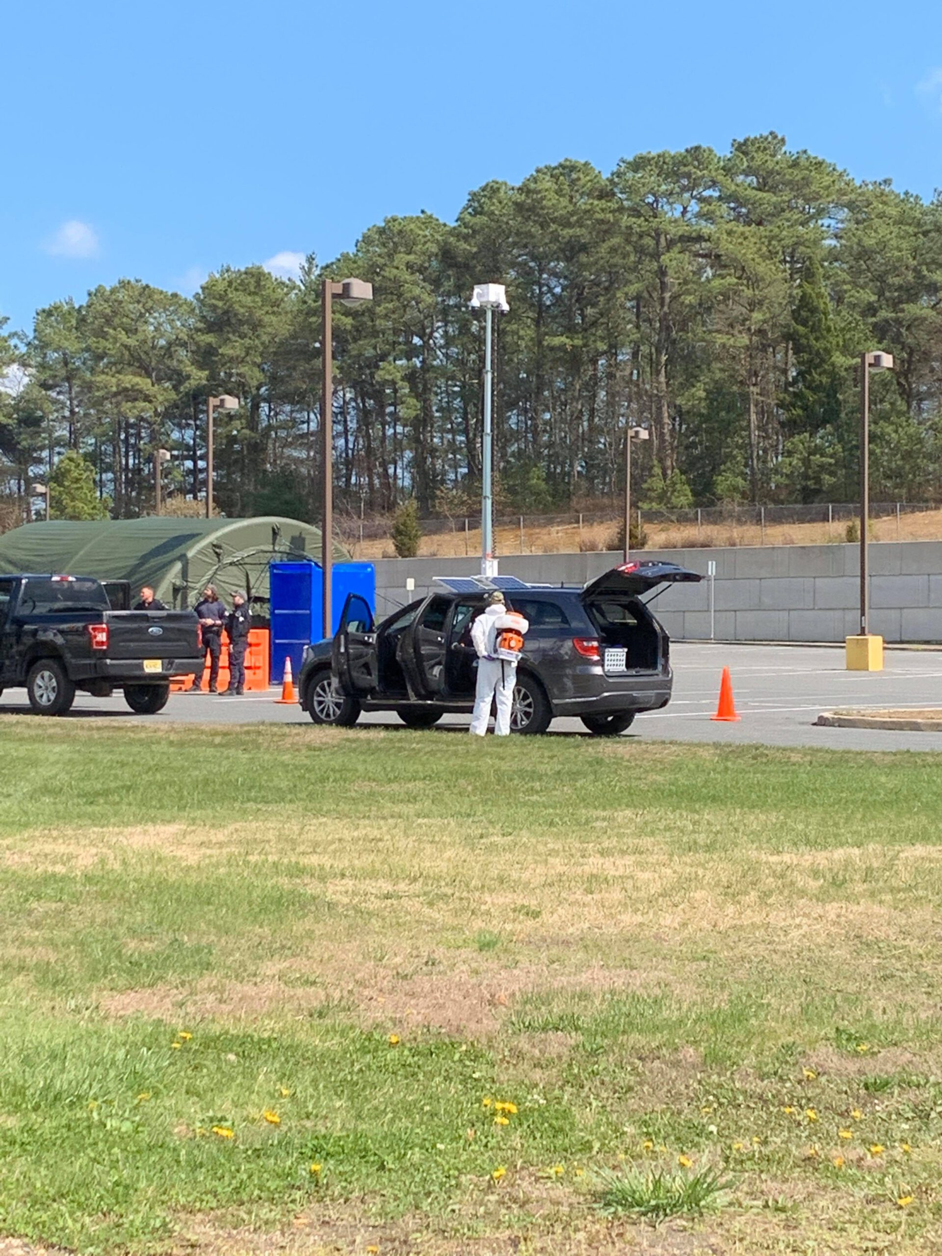 BERKELEY: County Continues to Decon Emergency Vehicles