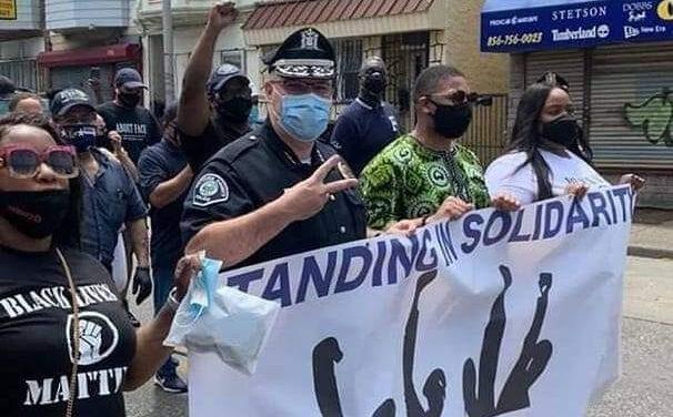 Camden County Police Chief Walks With Protestors