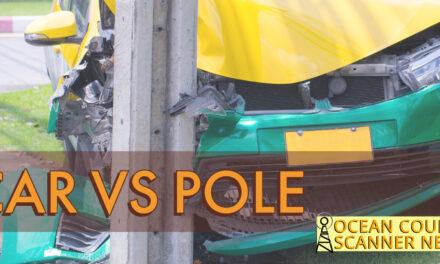 POINT PLEASANT BEACH: VEHICLE VS POLE