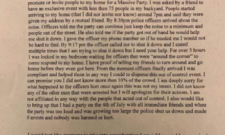 Brick: Homeowner Issues Apology Letter After Large Party Gets Out Of Control