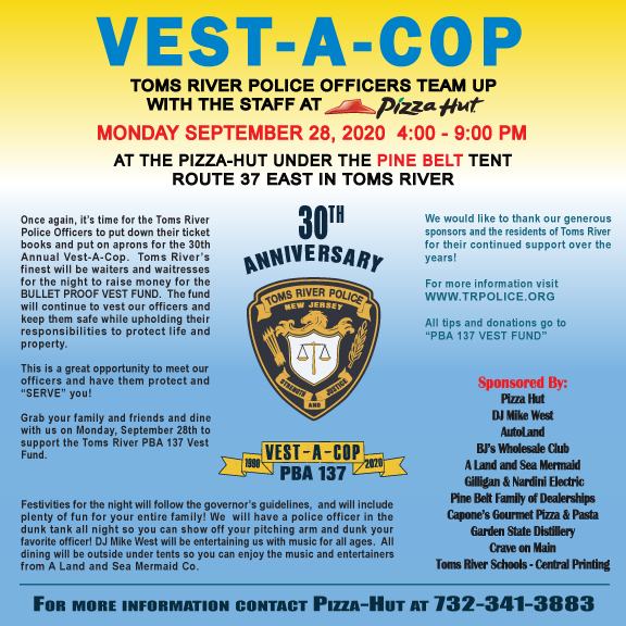 TOMS RIVER: PBA Hosts 30th Annual Vest-A-Cop Fundraiser