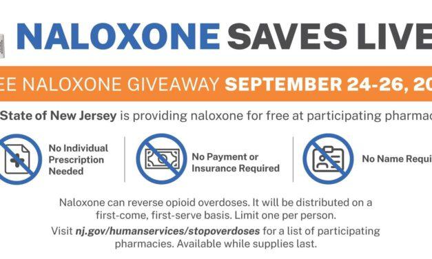 NJ: Free Narcan Kits Available 09/24 – 09/26