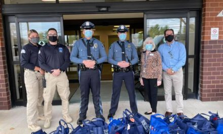 HOWELL: Officers Deliver Meal Baskets to Local Seniors