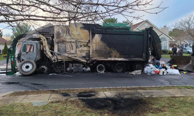 TOMS RIVER: Garbage Truck Catches Fire in Lake Ridge