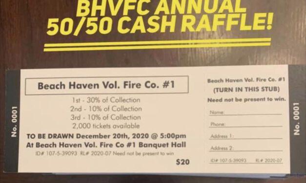 LBI: Beach Haven Volunteer Fire Co. Holds Annual 50/50 Raffle!
