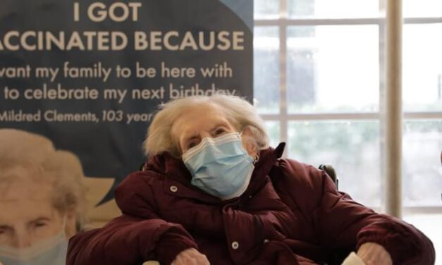 First Long Term Care Resident Receives Vaccine- She's 103!