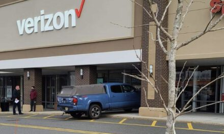 W. LONG BRANCH: Customer Drives Vehicle Towards Verizon Store
