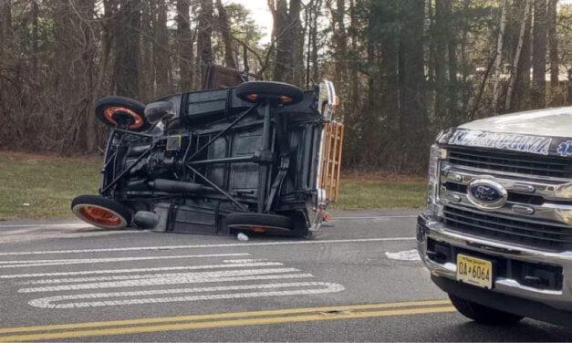 MANCHESTER: Crash on CR 530 Turns Vintage Car on its' Side