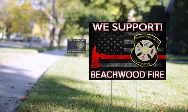 BEACHWOOD: Support Volunteer FD- Lawn Sign Fundraiser Underway