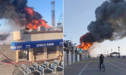 Blaze Damages Ocean City Boardwalk