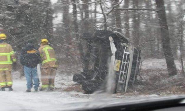 Bayville: Overturned Vehicle at East End & Forest Hills