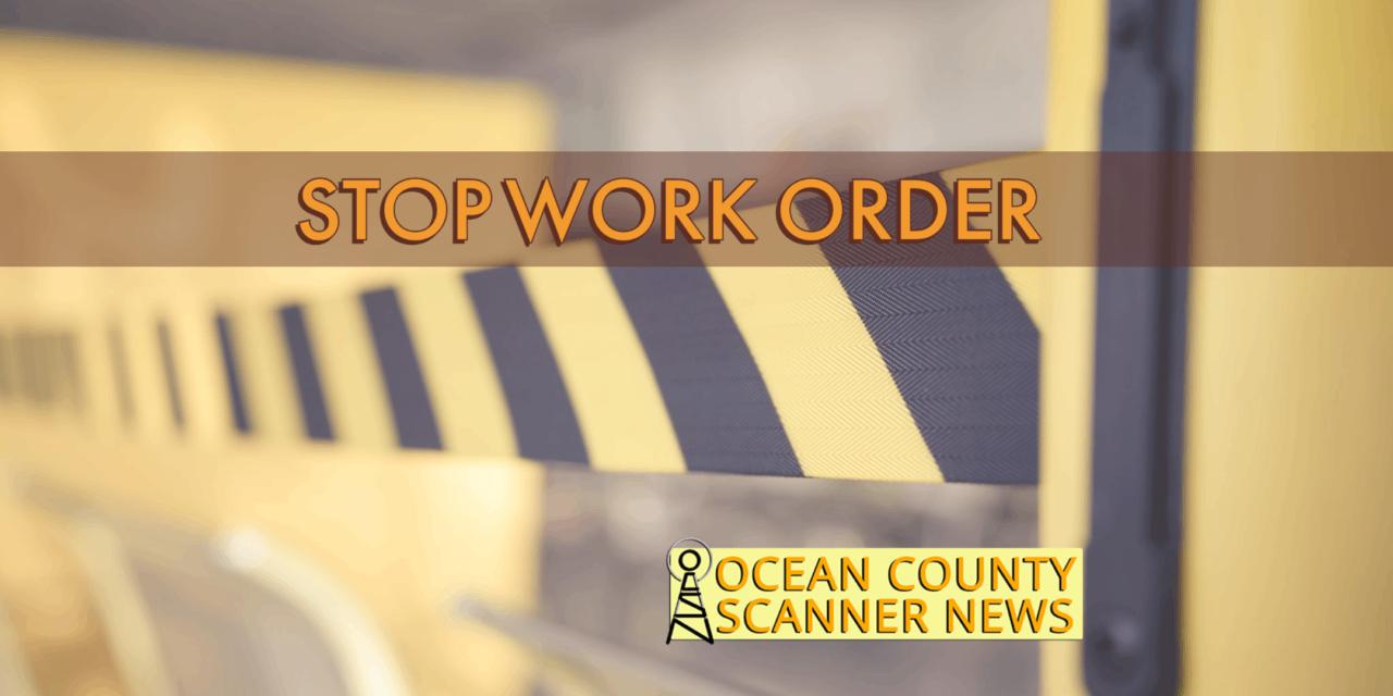 KEANSBURG: Boardwalk Construction Stopped