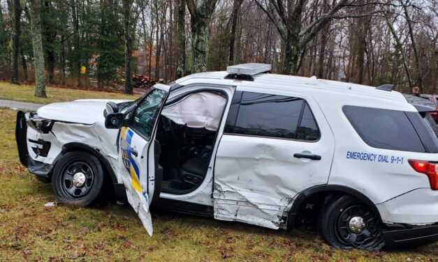 TOMS RIVER: Driver Under the Influence at 8 AM Causes 4 Vehicle Crash- NJSP SUV & School Bus Involved