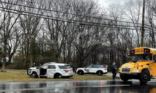 TOMS RIVER: Pictures & Video from Serious Crash on CR 571 @ Leawood- NJSP, Comcast & Bus all Involved