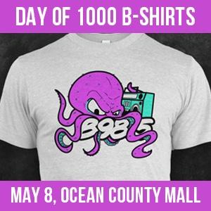 TOMS RIVER: B98.5 Day of 1000 T-Shirts- Saturday May 8