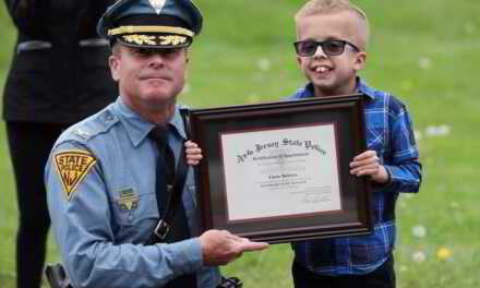 Colonel Pat Callahan Appoints Tayte Belstra An Honorary NJSP Trooper