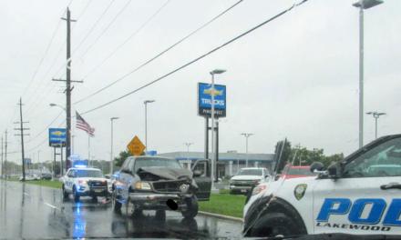 Lakewood: Earlier MVA truck vs Pole