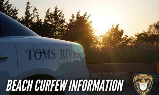 TOMS RIVER: NORTHERN BEACH CURFEW