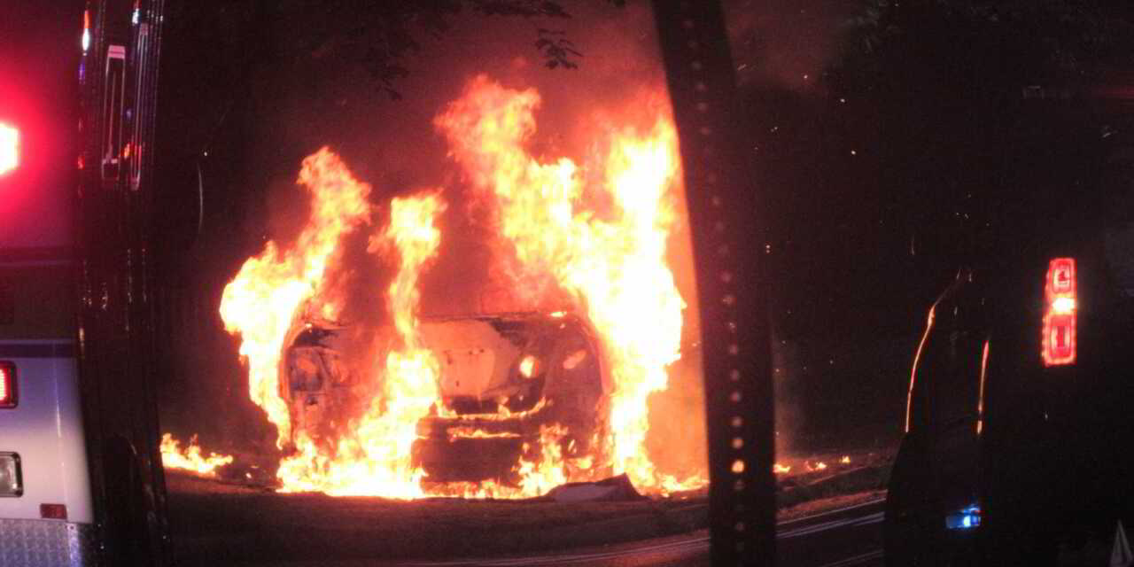 Silverton: Early Morning MVA with Vehicle Fire