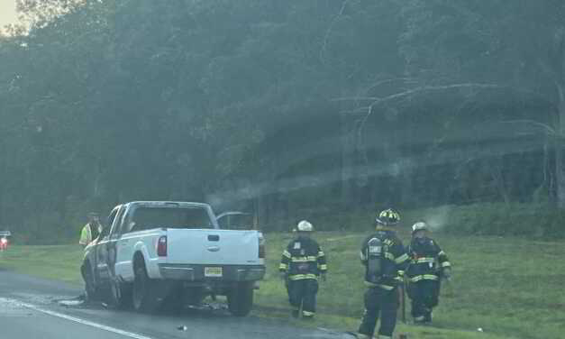Car Fire GSP North in Brick Causes Delays About Ten Miles