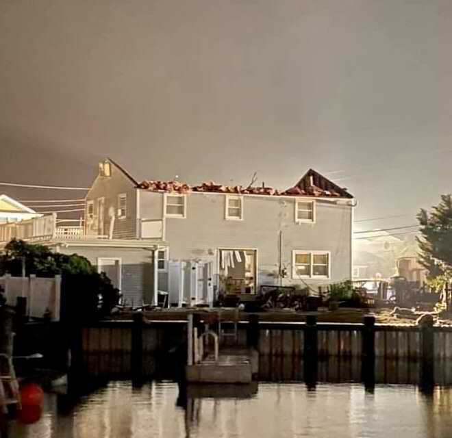 Numerous Homes, Businesses, Boats Damaged In Suspected Tornado That tore Through LBI