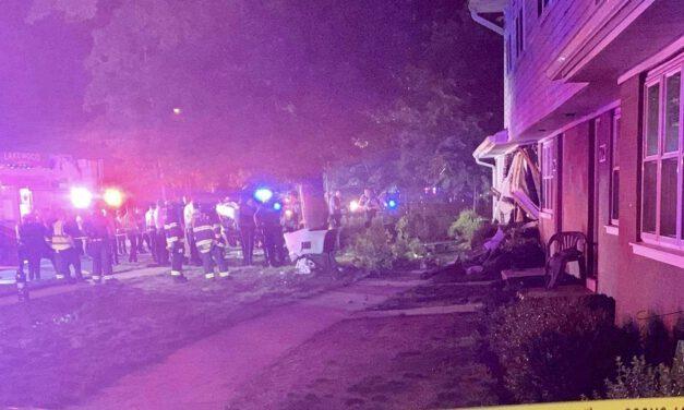 LAKEWOOD: One Juvenile Passenger Fatally Ejected at Crash on Cedarbridge @ Clover- Speeding Vehicle Struck Building