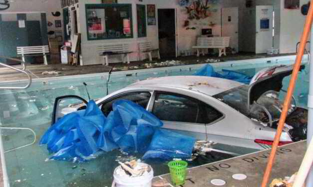 ISLAND HEIGHTS: DRUNK DRIVER CRASHES THROUGH SWIM SCHOOL- VEHICLE LANDS INSIDE INDOOR POOL
